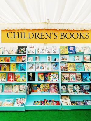 hay book tent childrens