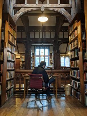 A desk at Gladstone's Library
